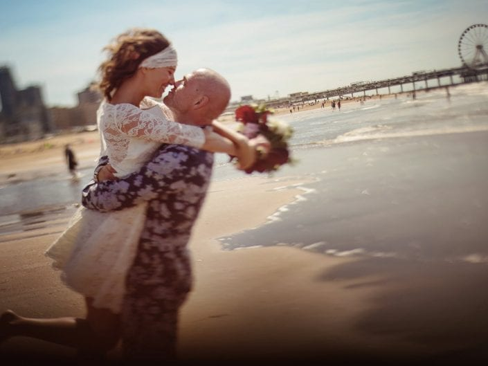 Weddingvideo on a beach in The Netherlands
